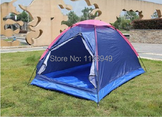 Free shipping Outdoor wholesale waterproof camping tent casual tourism double single tier tent Couple outdoor tent flytop tent(China (Mainland))