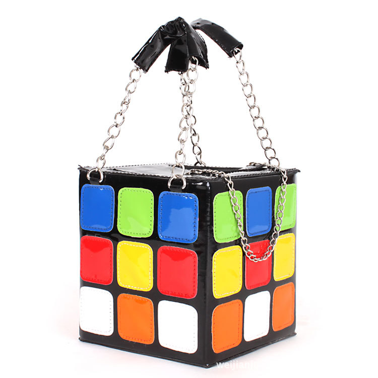 Fashion Promotion Handbag Purse Gift Girl Women's Cute Magic Cube Bag Products(China (Mainland))