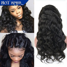 7A Grade Unprocessed Brazilian Full Lace Human Hair Wigs Lace Front Wigs Body Wave Virgin Hair with Baby Hair for Black Women(China (Mainland))
