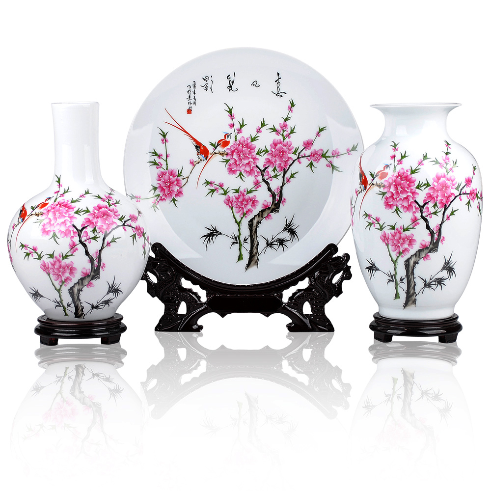 Home Decor Chinese Jingdezhen Ceramics Three Piece Set Two