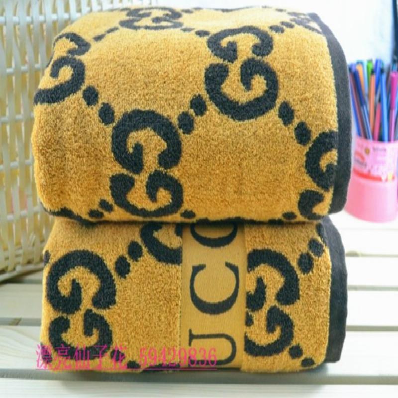 Italian boutique tide bath towel Super soft thick cotton jacquard bath towel luxury yellow color Handkerchief bathroom towel(China (Mainland))