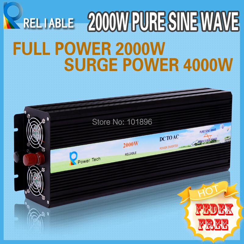 LED Display 2000W Pure Sine Wave Inverter Solar Inverter 12V 24V 48V 96V DC INPUT 120V 220V AC OUTPUT Solar Inverter(China (Mainland))