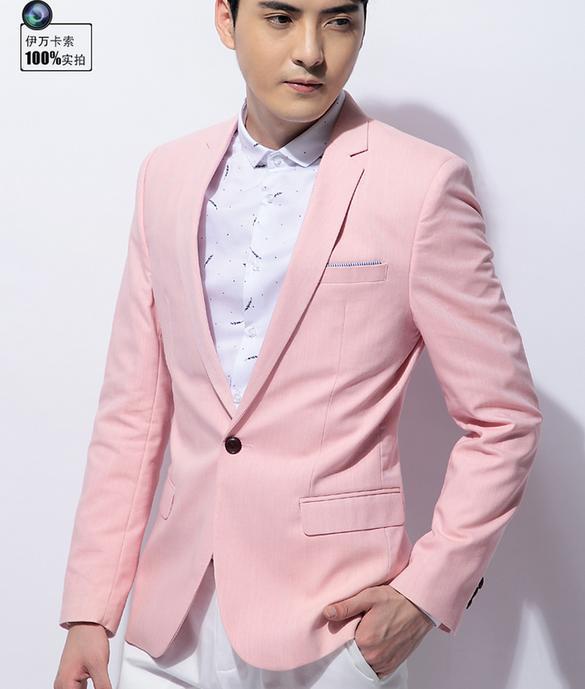 Fashion autumn England pink blazers men male jackets mens slim fit casual suit coat jacket mens blazer short coat M - 3XLОдежда и ак�е��уары<br><br><br>Aliexpress