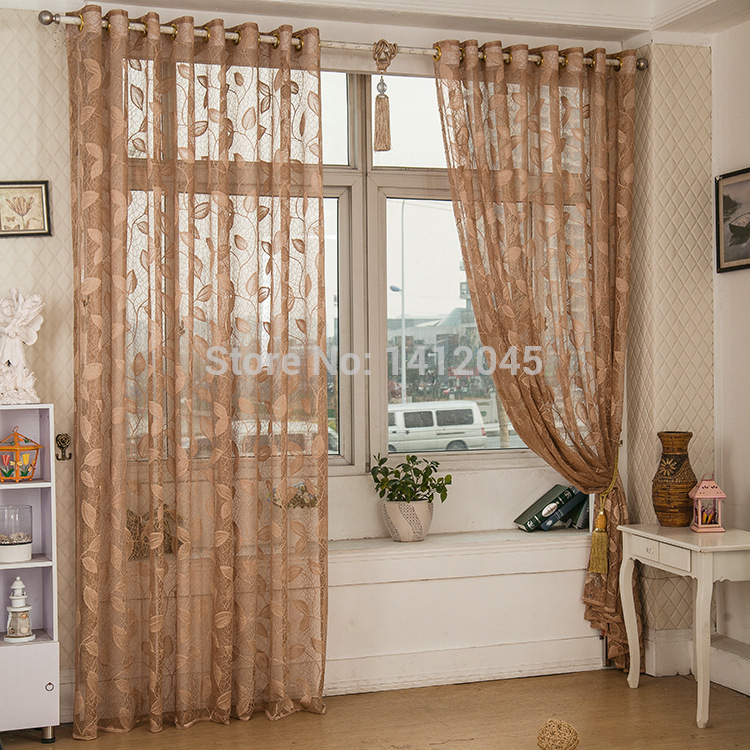 Fashion quality tulle modern luxury curtains for living room the bedroom embroidered volie window curtain and draperies in stock(China (Mainland))