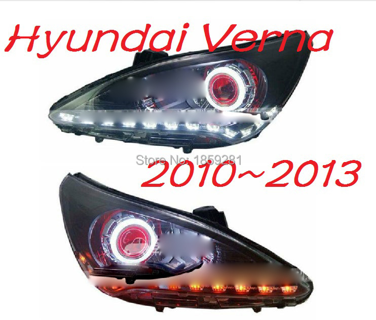 Hyunda sonata headlight,2011~2014(LHD,RHD need add 200USD),Free ship! 2011~2013 verna headlight,2ps/se+2pcs Aozoom Ballast,verna