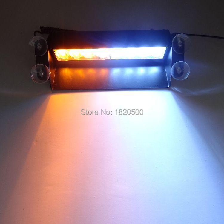 Super Bright 8LED traffic light led police lightbar Strobe Lamp Warning Signal Police flashlight Light led traffic warning light(China (Mainland))