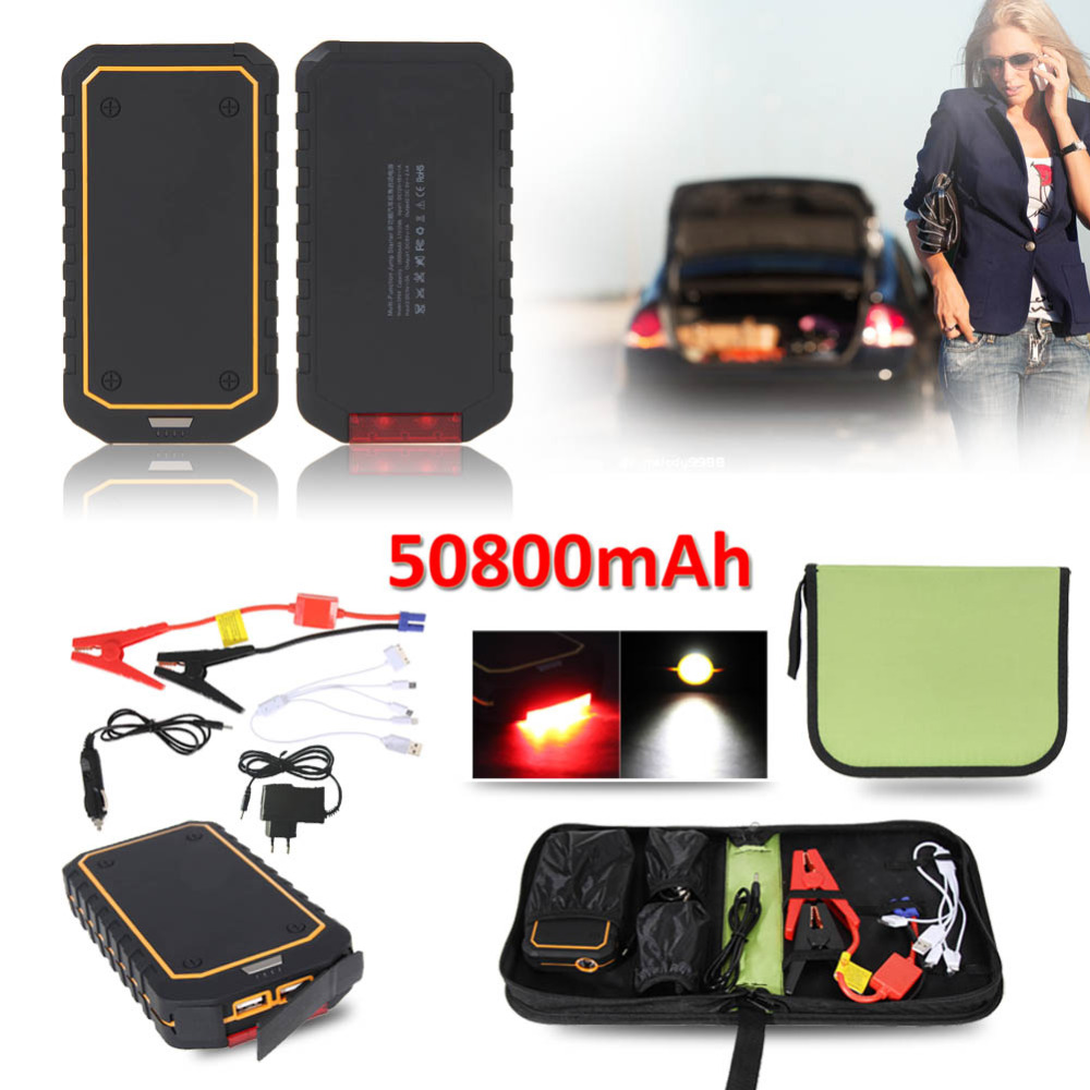 High Quality 12V 50800mAh Car Jump Starter Pack Portable Emergency Booster Charger Battery LED Booster Battery Power UK Plug(China (Mainland))