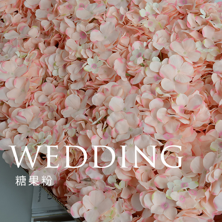 50pcs The wedding flower wholesale flower Hydrangea head simulation DIY flower silk wedding photography guide table(China (Mainland))