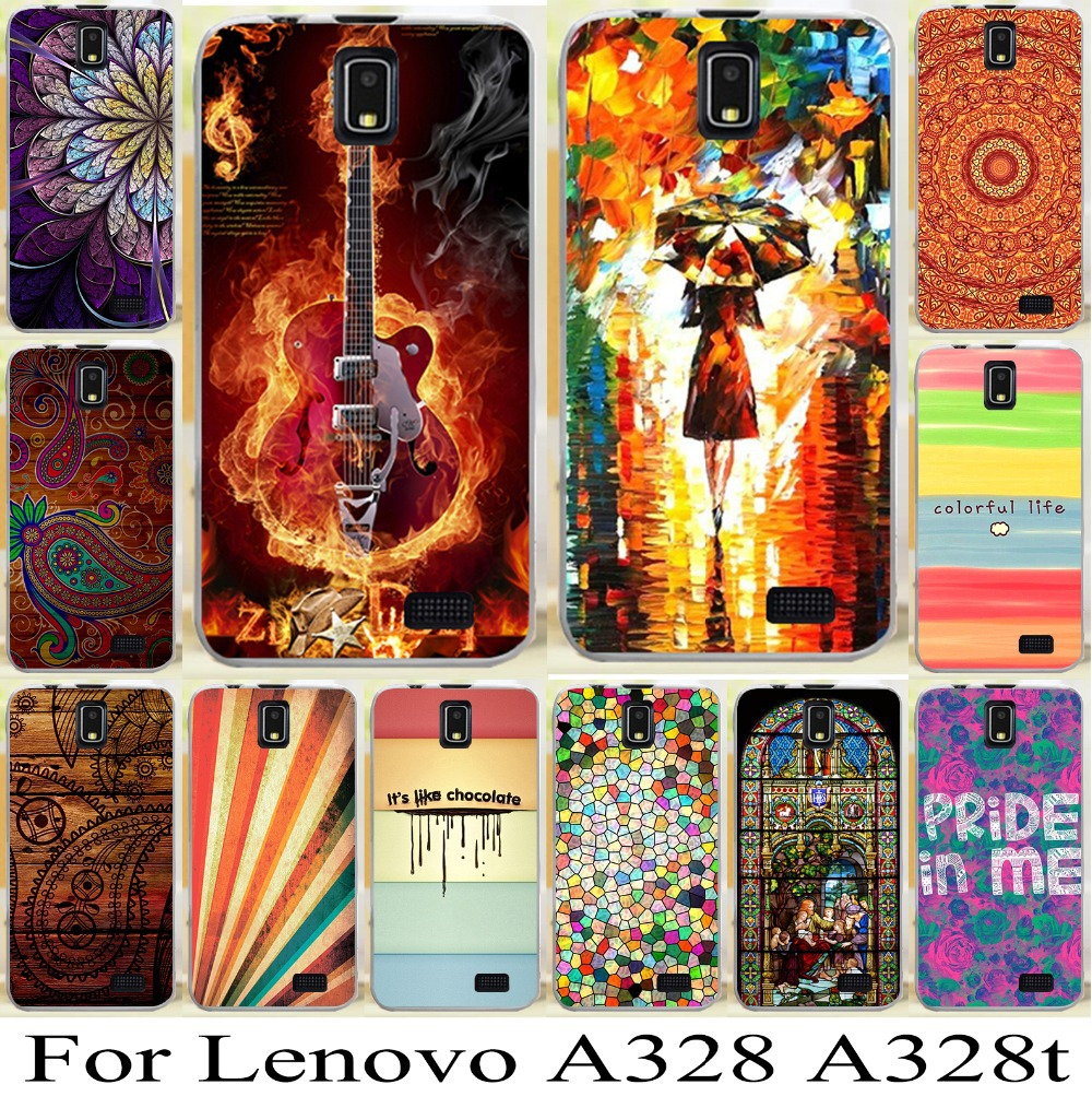 2015 Best Selling Newest For Lenovo A328 A328t Freeshipping Beautiful Skin Shell Hood Bag Mobile Phone Case Cover Cellphone(China (Mainland))
