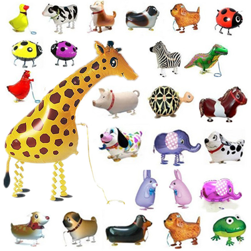 Walking Pet Balloon Toys Animals For Children Kids Gifts Fun Party Animal Foil Balloons Children's toys New Funny Toys(China (Mainland))