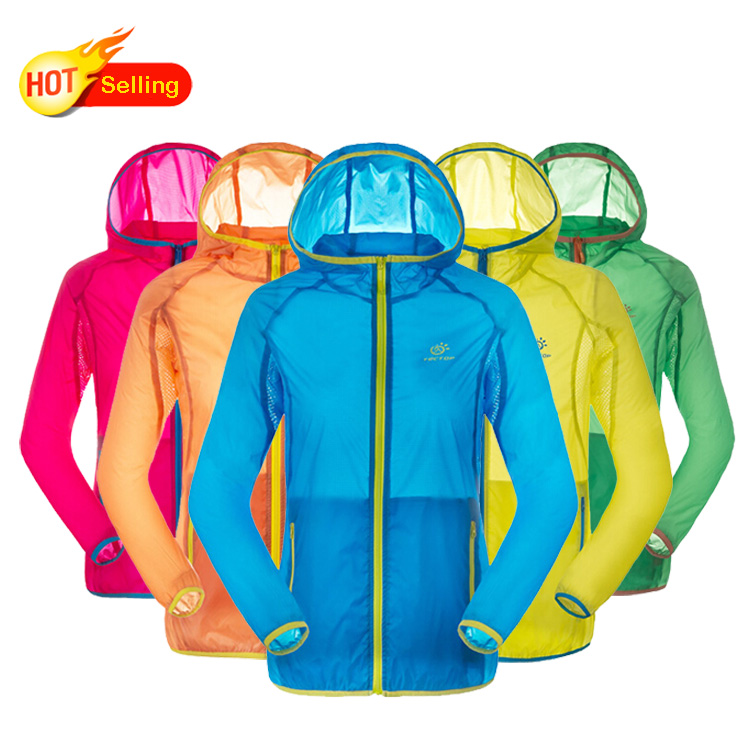 2015 Upgraded version summer Outdoor jacket women and jacket men ultralight waterproof jackets Sunscreen Ventilation 10 colors(China (Mainland))