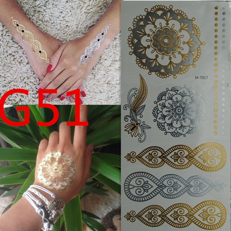 700 style Body art chain gold tattoo temporary tattoo tatoo flash tattoo metallic tattoo jewelry temporary tattoost stickers(China (Mainland))