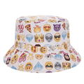 Fashion Harajuku Flat Bucket Hats 3D printed Emoji Style Outdoor Beach Hat Fishing Hip Hop Casual
