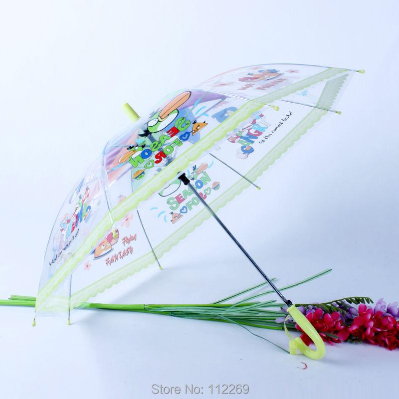 PVC straight children's cartoon lovely printing auto open umbrella(China (Mainland))