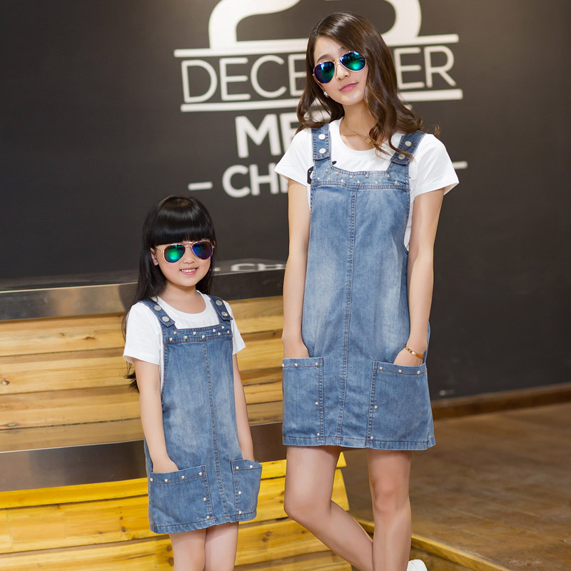 2920df721215 Fashion Matching Mother Daughter Clothes Set Family Matching Outfits ...