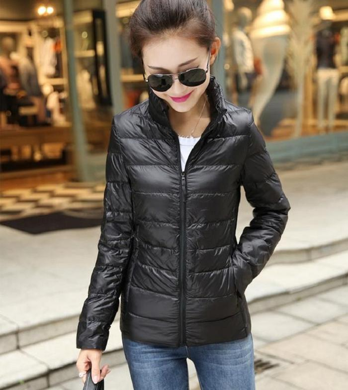 Black Bubble Coat Jacket Coat Black 001