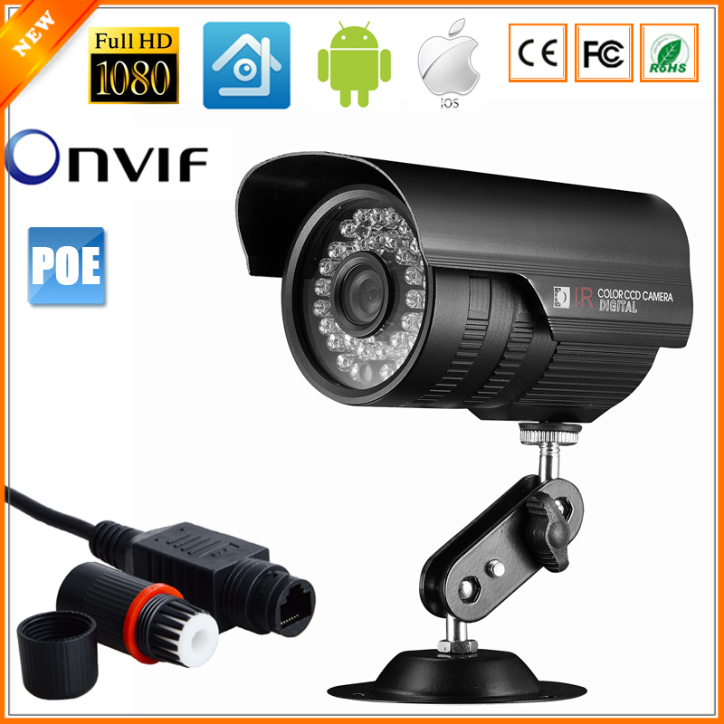 48V IP Camera PoE Outdoor Full HD 1080P 2MP SONY IMX322 POE HI3516C Bullet IP Camera Security P2P ONVIF Waterproof PoE Cable(China (Mainland))