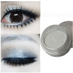 Cosmetic Makeup eyeshadow palette high-Light Eye shadow Powder White Glitter diamond bright colorful - Global Trading HK CO.,LTD store