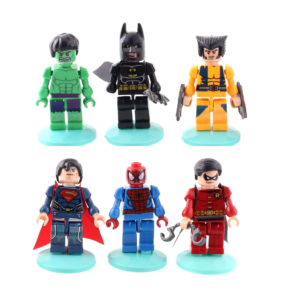 6X Marvel The Avengers Super Hero Robin Hood Figure Collection Character Boy Animation Toys Gift DIY(China (Mainland))