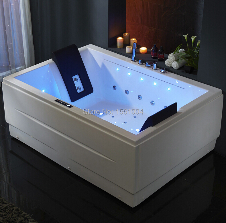 New arrival led waterfall massage bubble whirlpool bathtub for New tub over old tub