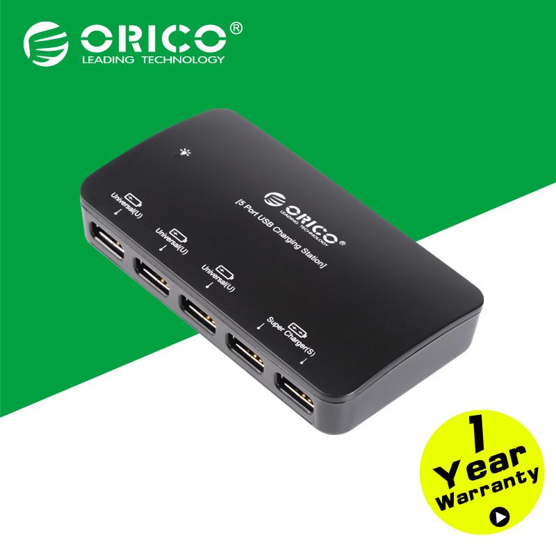 ORICO DCP-5U-BK 5 Port Universal USB Desktop Charger for IPad IPhone Samsung Tablet(China (Mainland))