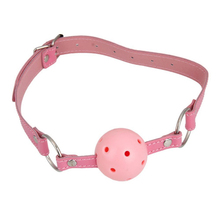 Buy New Leather Gag Bondage Restraints Sex Toys Couple Use Fetish Erotic Toys Pink Open Mouth Gag Sex Products SM Appliance for $3.11 in AliExpress store