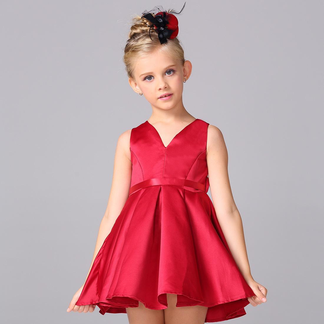 Summer European High-grade Children's Dress Girls Dress Sleeveless Cotton Princess Dress(China (Mainland))