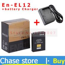 En-el12 аккумуляторная камера аккумулятор EN EL12 аккумулятор пакет и MH-65 зарядное устройство для Nikon CoolPix S8000 S610 S620 S70 S9100 S1100