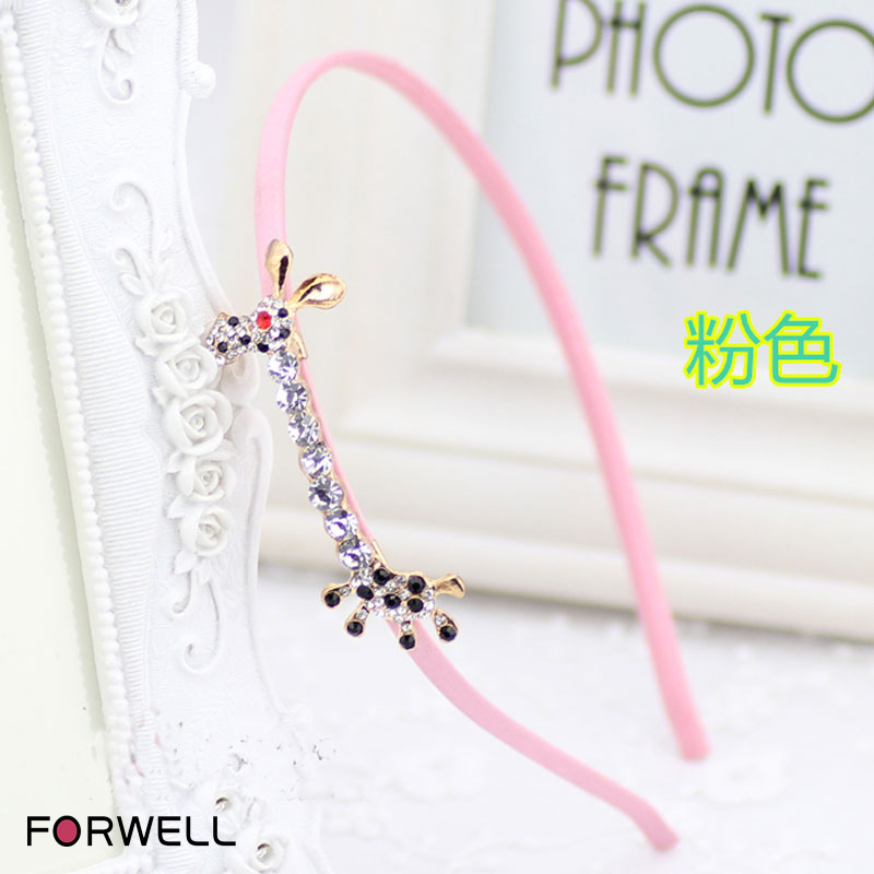 New arrival sweet hair hoop headwear giraffe rhinestone headbands headdress flower fine hair band women girls hair accessories(China (Mainland))