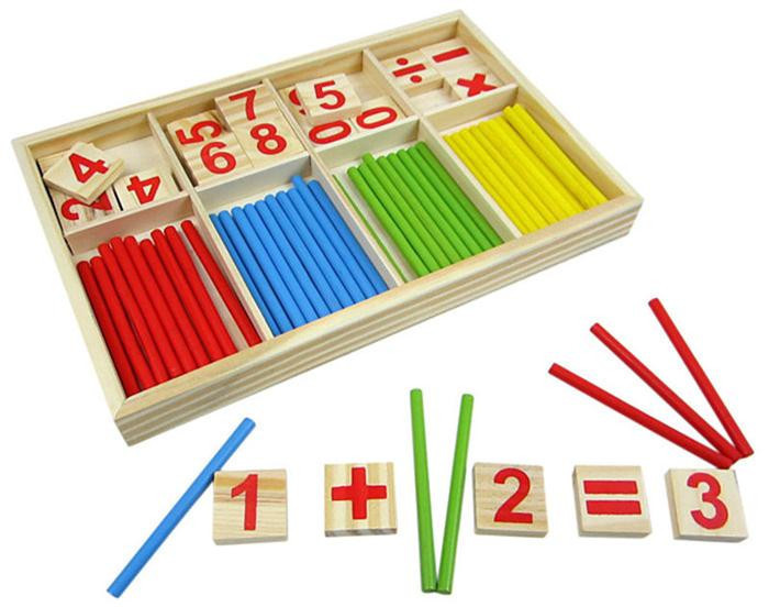 Children Wooden Mathematics Puzzle Toy Kid Educational Number Math Calculate Game Toys Early Learning Counting Material(China (Mainland))