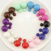 50 pairs/lot New Arrivals Double Sided Fashion Jewlery Summer Style New Design Korea Stud Earrings for Women Free Shipping(China (Mainland))