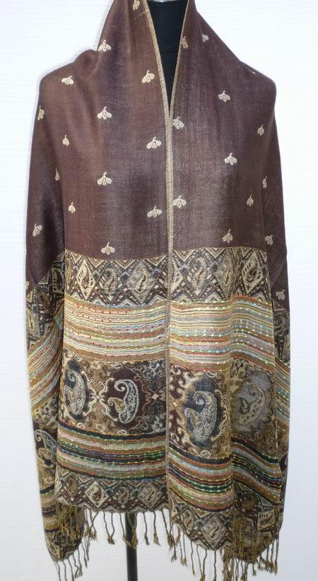 Free Shipping Black Beige Chinese Women's Reversible Two-Face Shawl Pashmina Silk Scarf Wrap Scarves WS002-K(China (Mainland))