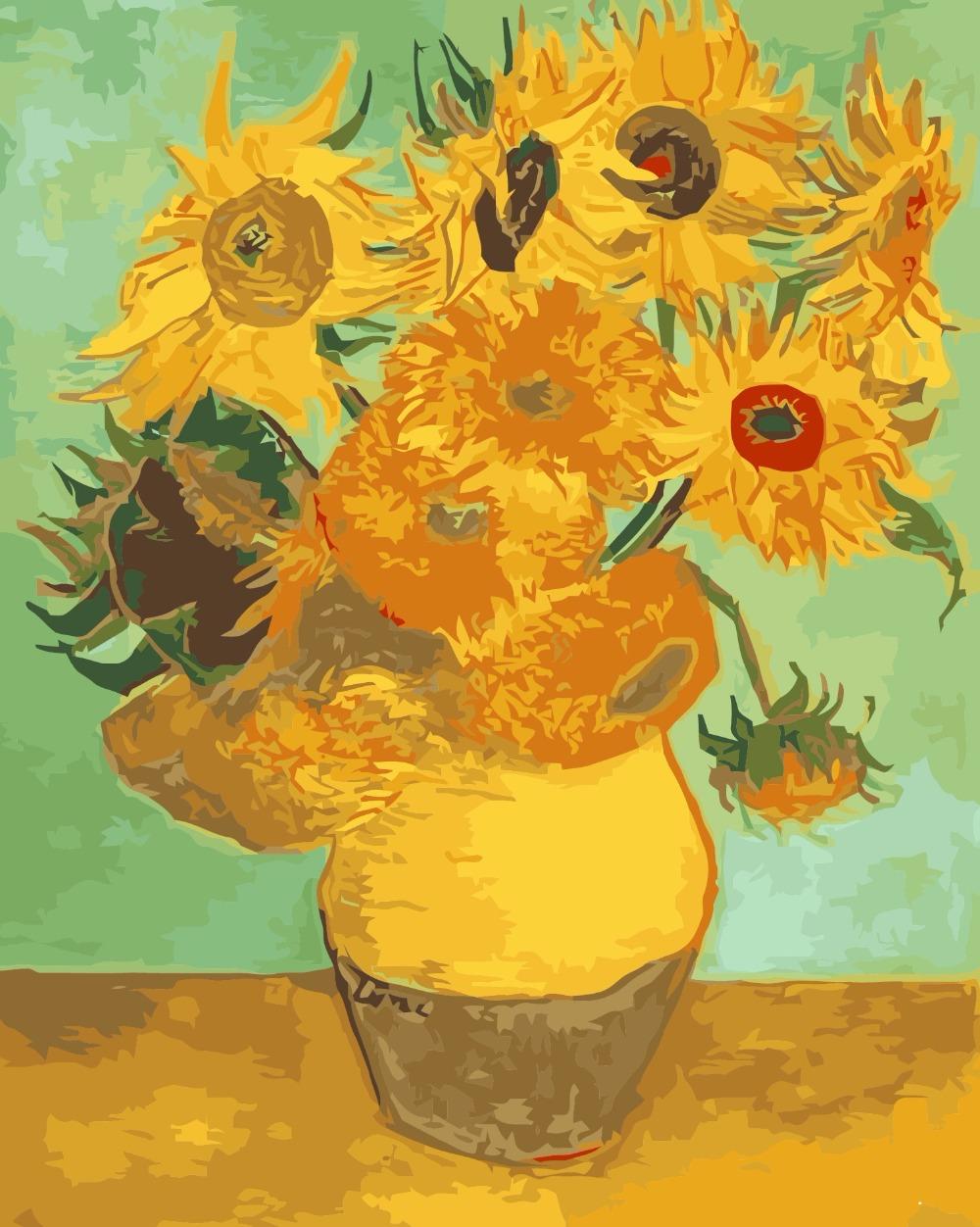 Van gogh pittura ad olio acquista a poco prezzo van gogh for Girasoli di van gogh da colorare