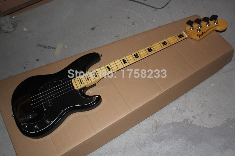 2019 Free shipping Top Quality Lower Price 2015 New FD 4 string black Precision Bass Electric guitar China guitar(China (Mainland))