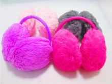 New 2015 Lady Girl Sweet Warm Plush Fluffy Ear Cover Earmuffs Ear Earshield Lots of Color(China (Mainland))