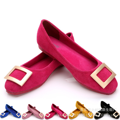 Korean Matte Leather Flat Shoes Buckle Size Lady Mother Autumn Shoes Flats(China (Mainland))
