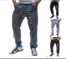 Spring and autumn men casual trousers 2015 new men's fashion personality printing leisure sports pants