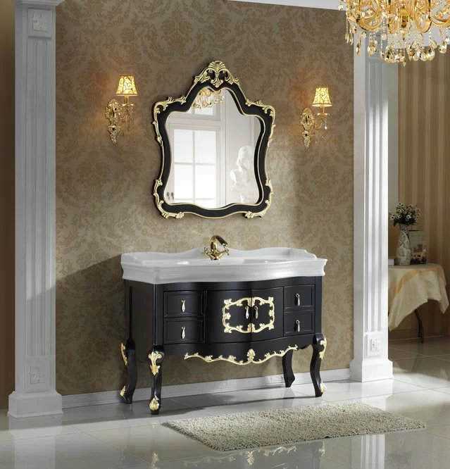 solid oak wood bathroom cabinet bathroom fitting wholesale bathroom