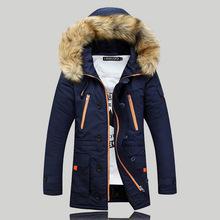 Chaqueta de abrigo con capucha de piel de alta calidad para hombres