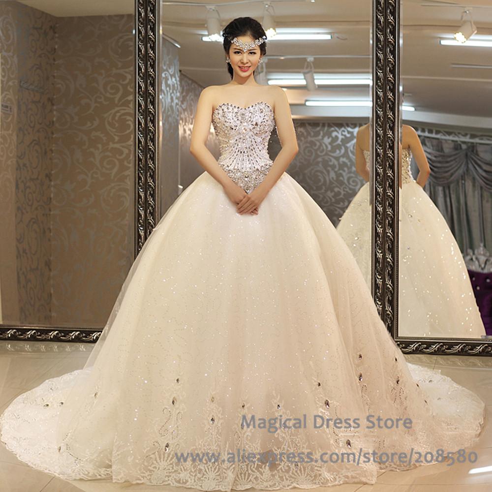 Diamond Wedding Gown: Aliexpress.com : Buy Elegant Diamond Crystal Bling Wedding