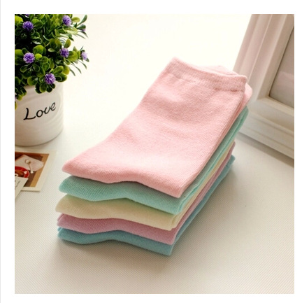 A008 Socks Cotton Candy Manufacturers Android Solid Color Plain Lady In Tube Socks Free Shipping(China (Mainland))