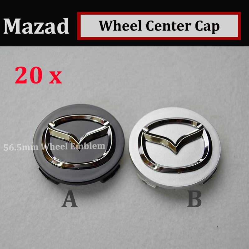 20 x 56mm Auto Wheel hub Logo Caps Car Wheel Rim Emblems Cover Mazda/AXELA/CX-5/ATENZA Wheels Rims Accessories(China (Mainland))