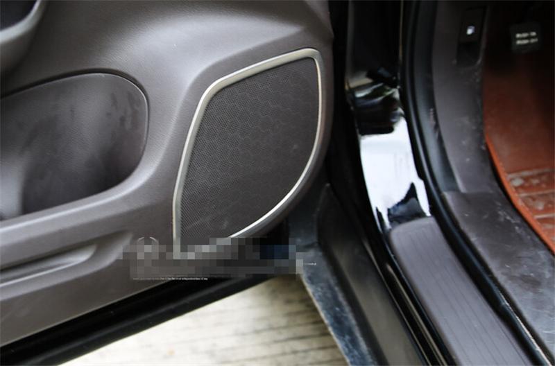 Car auto accessories inner door audio speaker cover decoration trim for honda crv cr-v 2012 2013 2014 2015 stainless steel 4pcs(China (Mainland))