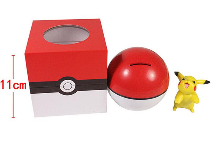11CM Anime Cartoon Pokemon Poke Ball Piggy Bank Boxed PVC Action Figure Model Toy Doll (China (Mainland))