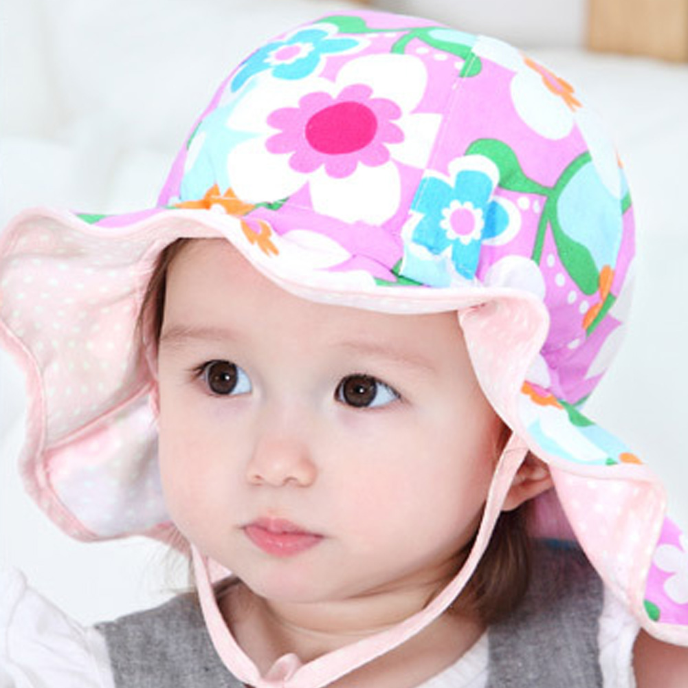 2016 Toddler Infant Sun Cap Summer Outdoor Baby Girl Hats Sun Beach Bucket Hat #LD789(China (Mainland))