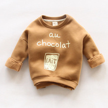Cemigo 2016 New Children Fashion Hoodies Boys Warm Sweatshirts Girls Cute Sweater Kids Fashion Top Clothes IU429(China (Mainland))