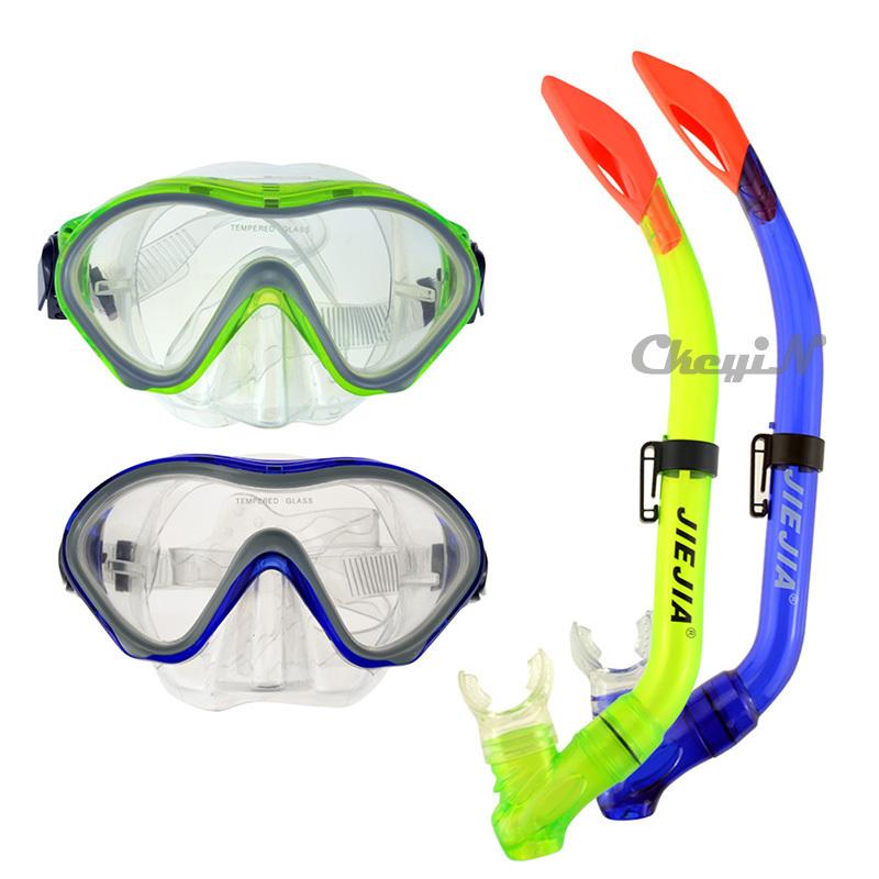 JIEJIA Waterproof Diving Masks Snorkel Set Swimming Underwater Goggles Water Sports Equipment For Children Kids YJ034-P2326(China (Mainland))