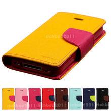 Mercury Goospery Premium PU Leather Card Wallet Flip Case Cover For Asus Zenfone 2 Laser ZE500KL(China (Mainland))
