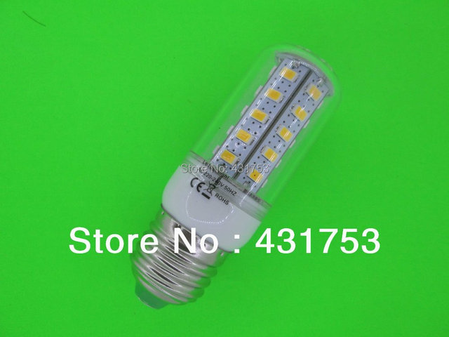 NEW E27 10W 5730 36 SMD LED Bulb Corn Light  LED Lamp White / Warm white 360 degrees (Free shipping / Quality assurance 2 years)
