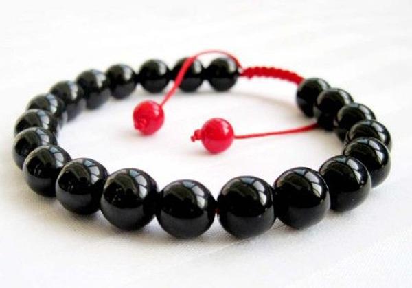 New Arrival Fashion Stone Needle Health Jewelry Black Beaded Shamballa Men's Bracelet Free Shipping(China (Mainland))